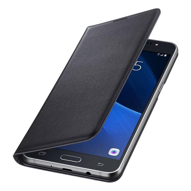 Le portefeuille Samsung Flip Wallet (EF-WJ510PBEGRU) est une fonction pratique de réveil.