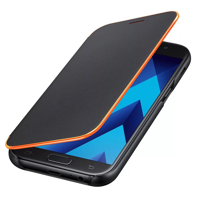 Samsung Neon Flip Cover - cadre néon sur le périmètre