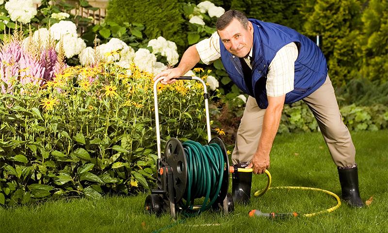 Options de sélection du tuyau d'irrigation