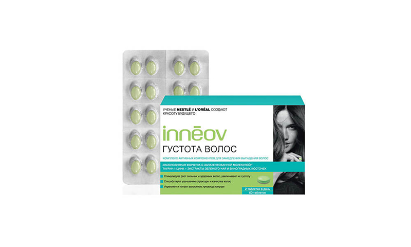 Densité de cheveux Inneov - avec antioxydants