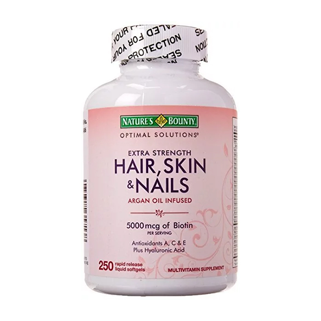 Nature's Bounty Cheveux, peau et ongles extra-puissants - avec effet d'accumulation