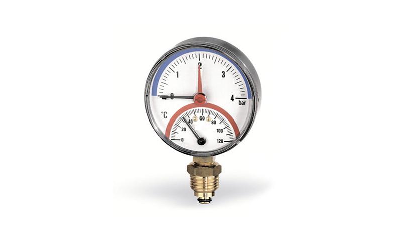 Watts F + R828 - thermomètre à bilame radial