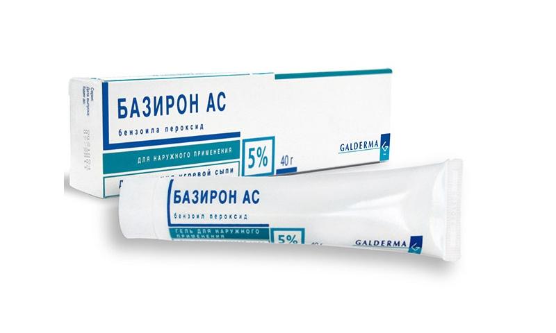 Baziron - contient du peroxyde de benzoyle